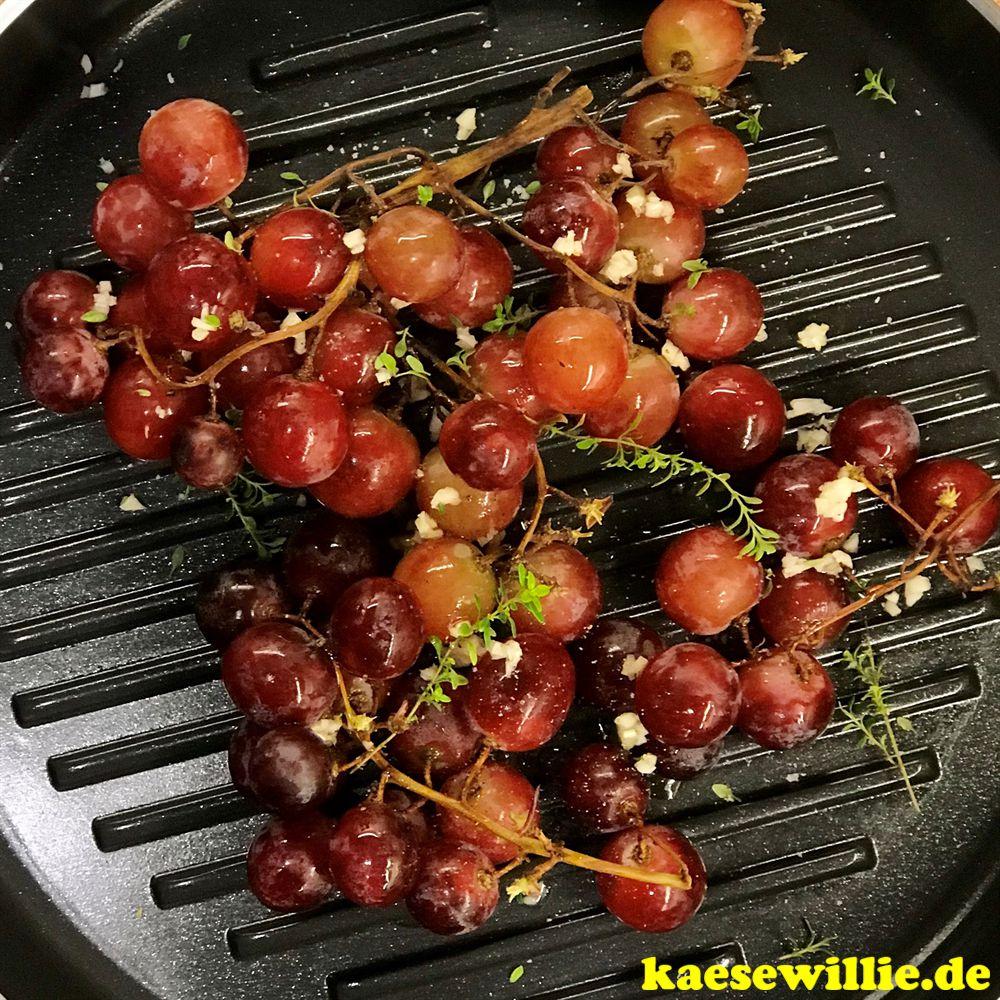 Ziegenkäse & Weintrauben aus dem Ofen