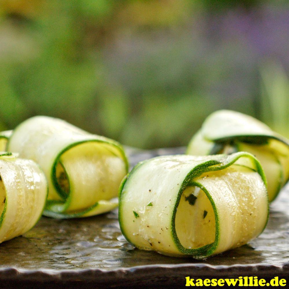 Zucchini-Päckchen mit eingeleger Fetakäse