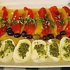 Marinierte Paprika mit Kräuter-Mozzarella