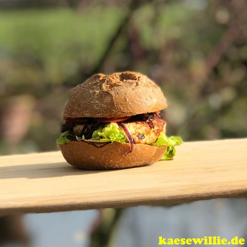 Blumenkohl - Burger mit Cheddar
