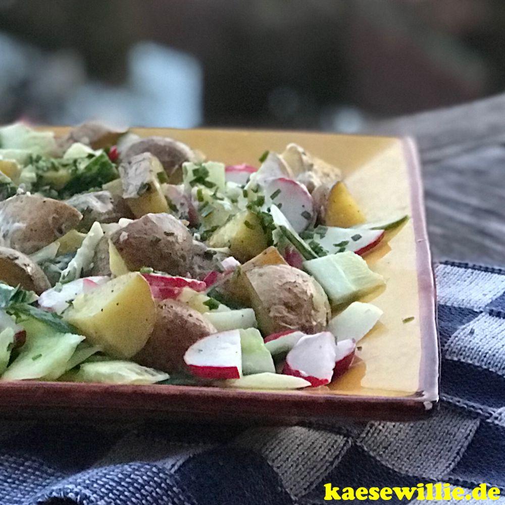 Frühlings - Kartoffelsalat mit Frischkäse