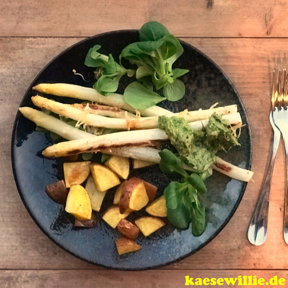 Ofenkartoffel mit Spargel & Pecorino